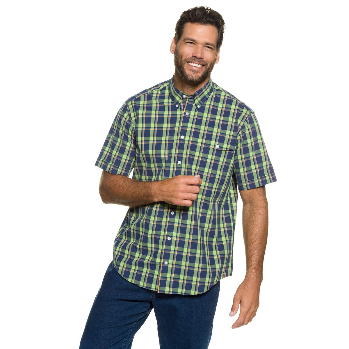Рубашка в клетку<br><br>Цвет: в клетку<br>Размер: 7XL