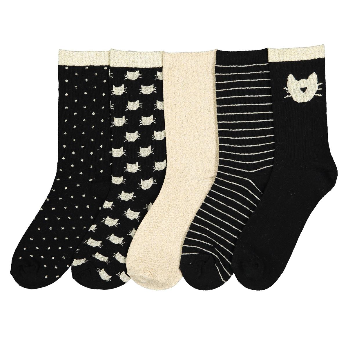 Комплект из пар носков La Redoute Размеры - 23/26 черный