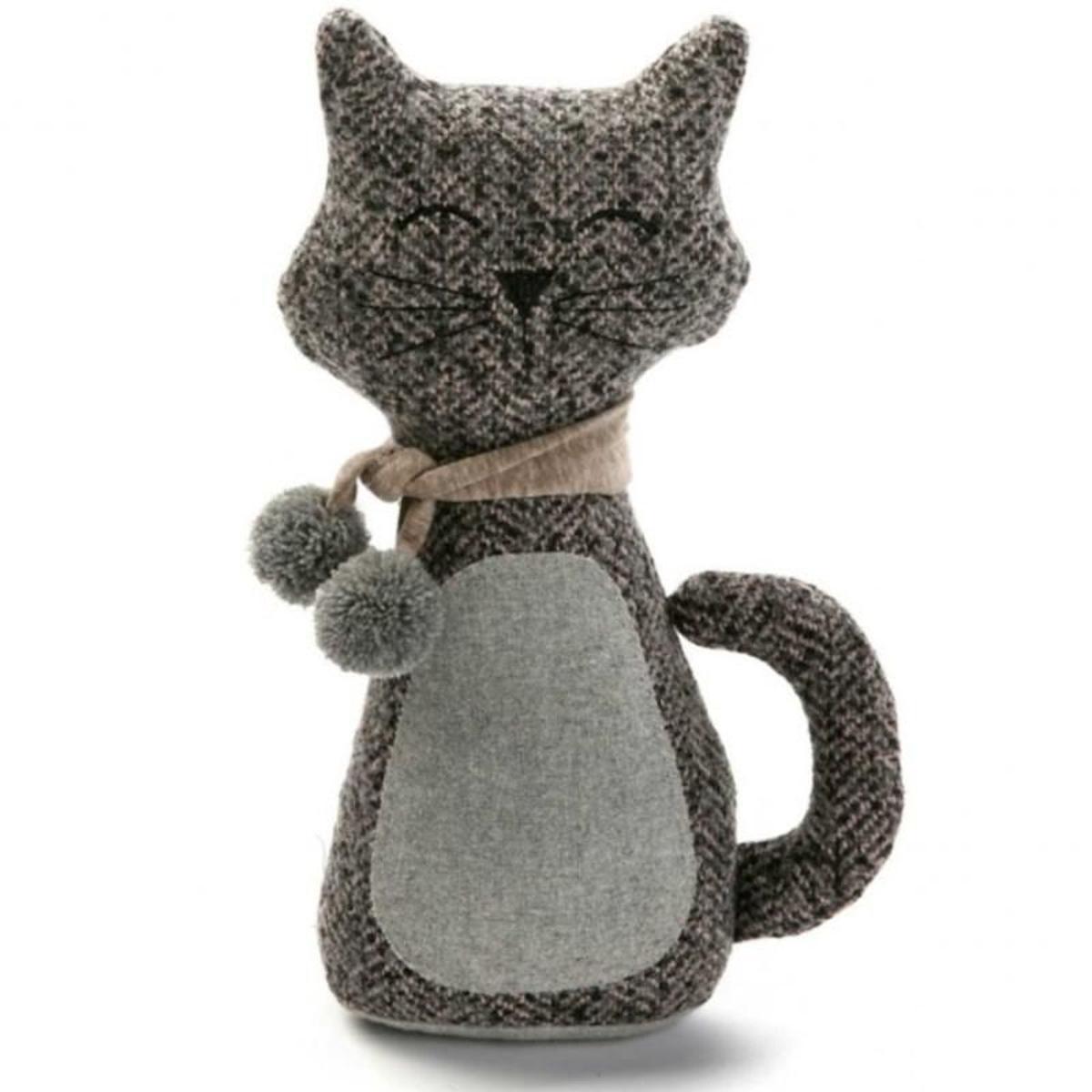Bloc porte petit chat gris