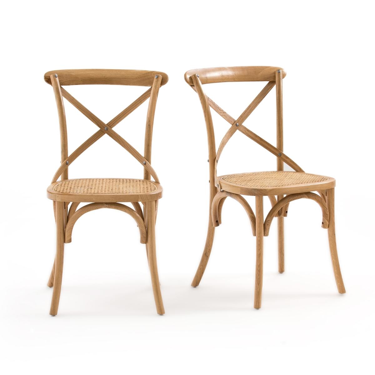 купить Комплект из стульев из La Redoute Дуба и плетения Cedak единый размер каштановый по цене 30949 рублей