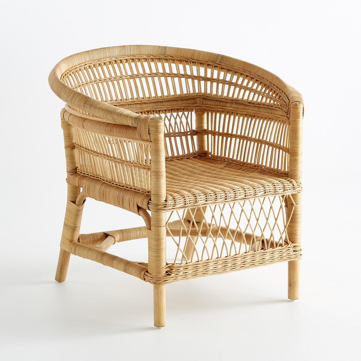 Кресло LaRedoute Ротанговое Malu единый размер бежевый скамья laredoute из ротанга malu единый размер бежевый