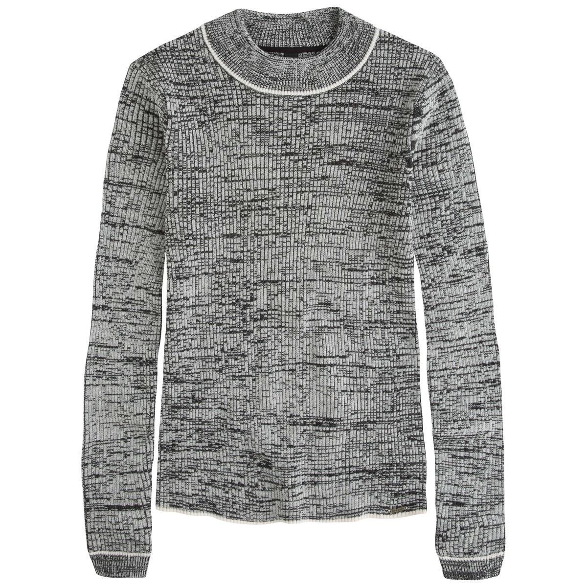 Пуловер с высоким воротником и длинными рукавами LEIRAСостав и описаниеМарка: PEPE JEANS.Модель: LEIRA.Материалы: 55% хлопка, 45% акрила.<br><br>Цвет: красный,черный<br>Размер: XS.M