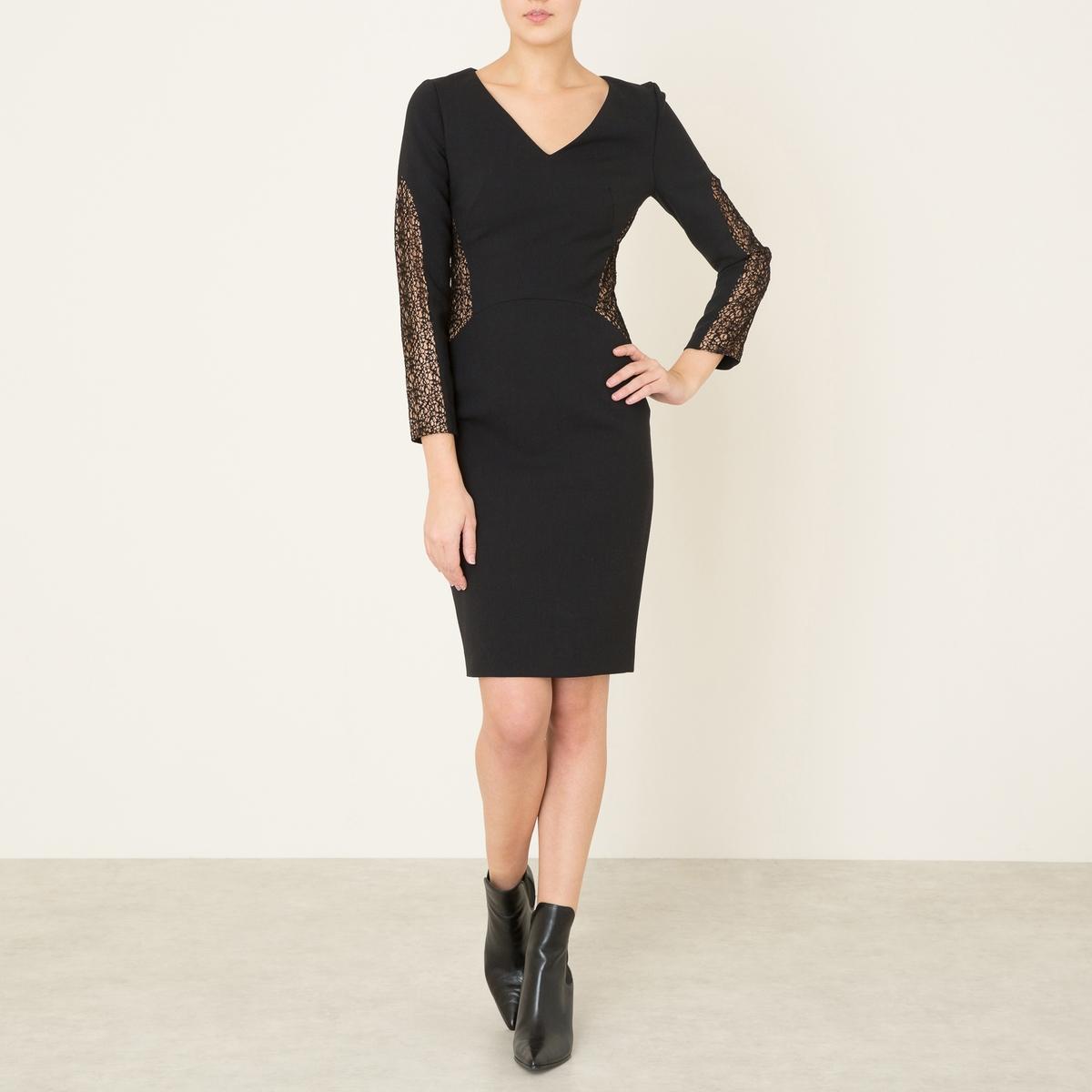 Платье CRAZYСостав и описание   Материал : 53% полиэстера, 44% необработанной шерсти, 3% эластана   Длина : 92 см.Марка : BA&amp;SH<br><br>Цвет: черный<br>Размер: S