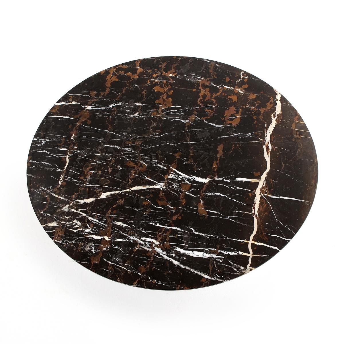 Столешница из мрамора янтарного цвета, Ø120 см, Aradan