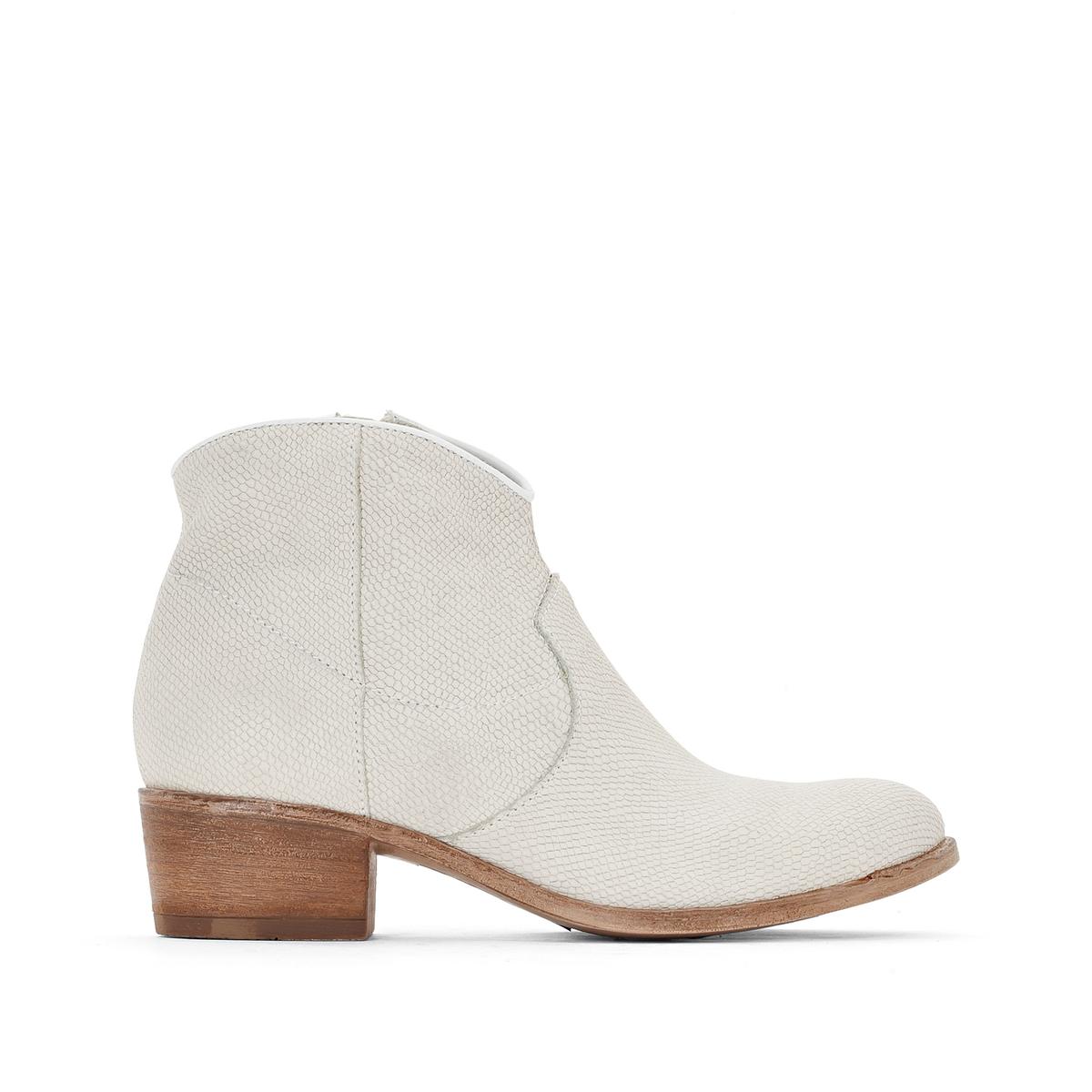 Ботильоны кожаные Donella на каблуке цены онлайн