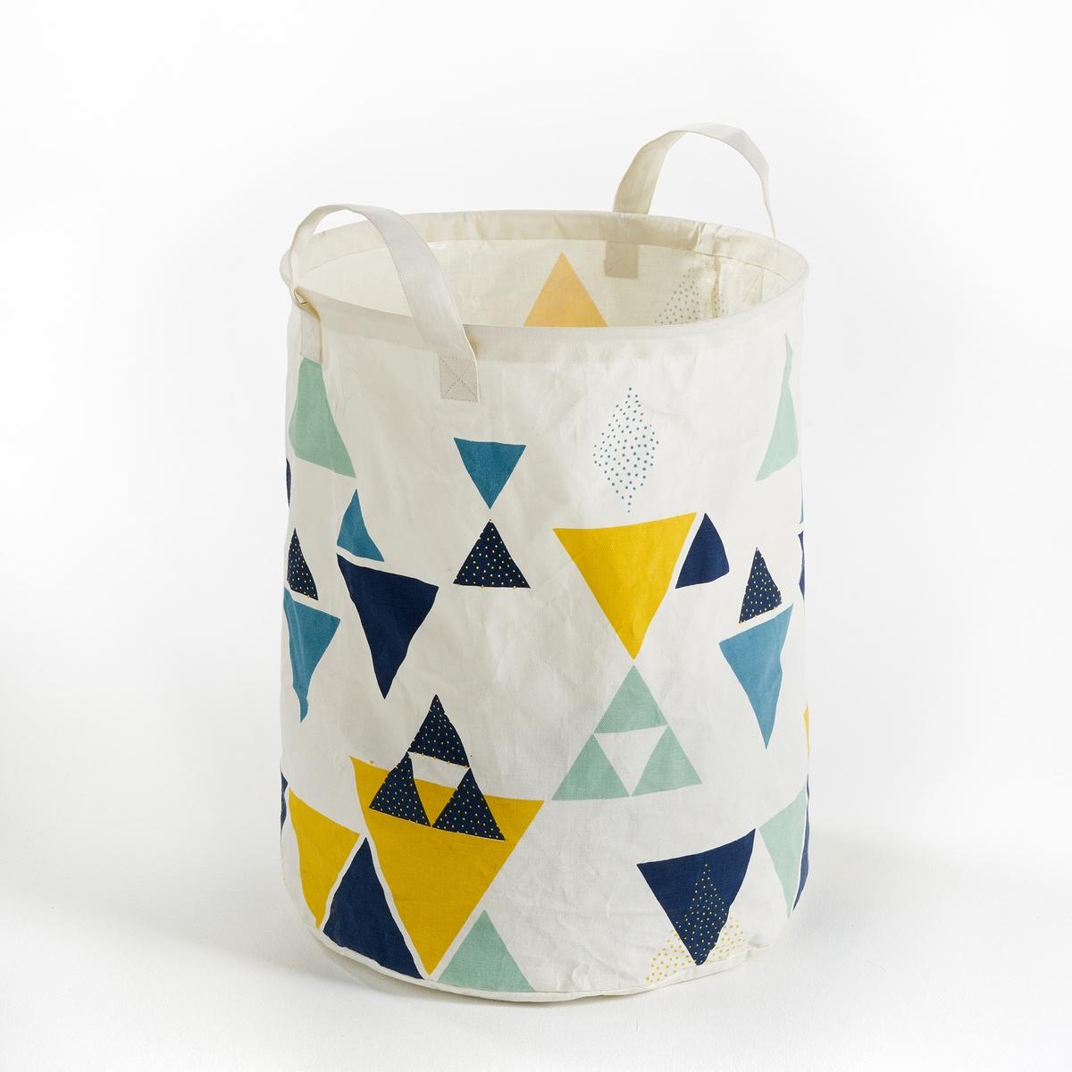 Корзина из хлопка с пропиткой TESSELLOГрафический рисунок в скандинавском стиле, корзина для хранения журналов, игрушек, белья…                          Характеристики корзины Tessello :  100% хлопок, раскрашенный и обработанный пропиткой для придания твердости    Размеры корзины Tessello :  Высота 50 см          Диаметр 45 см<br><br>Цвет: разноцветный
