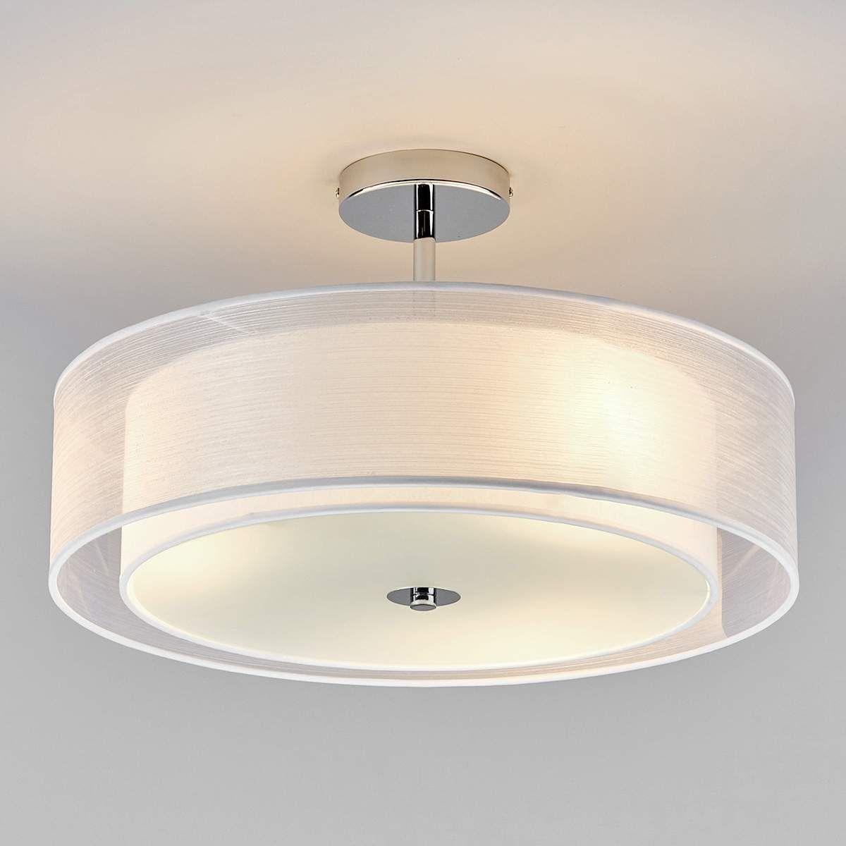 """LED Plafonnier en Textile / Tissu Soie """"Pikka"""" pour Salon & Salle à manger"""
