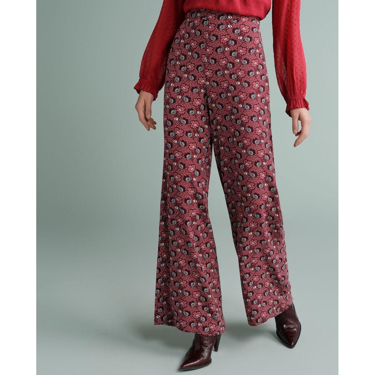 Pantalon palazzo à imprimé floral