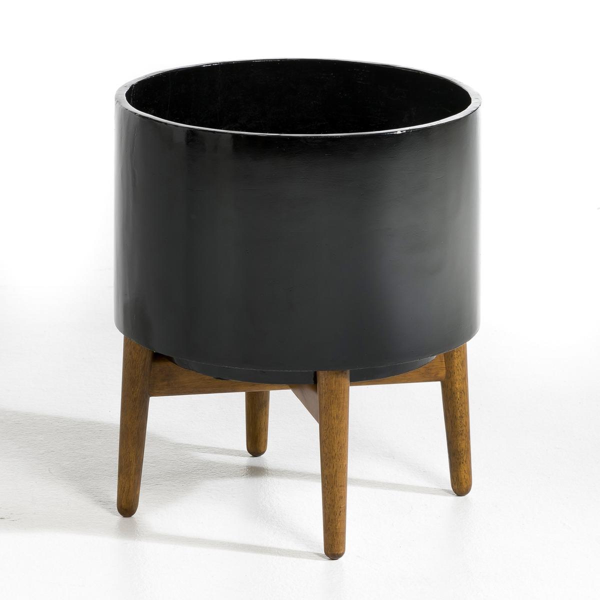 Кашпо Выс 42 см, FlorianLa Redoute<br>Описание : - Из керамики - Подставка из гельвеи Размеры : - ?37 x 42 см - Полезное пространство: ?35,5 x 25,5 см<br><br>Цвет: черный<br>Размер: единый размер