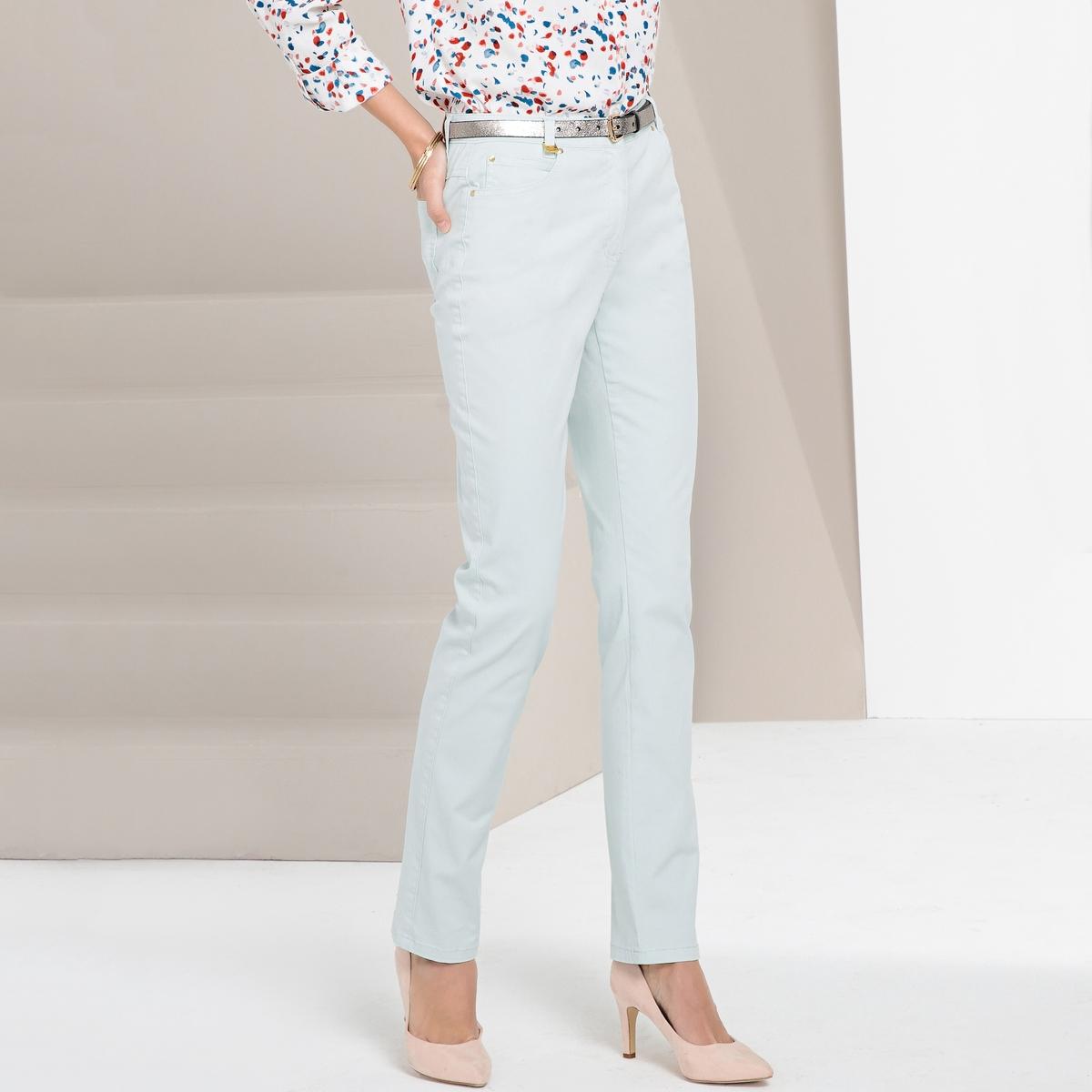 Imagen principal de producto de Pantalón recto de 5 bolsillos de algodón stretch - Anne weyburn