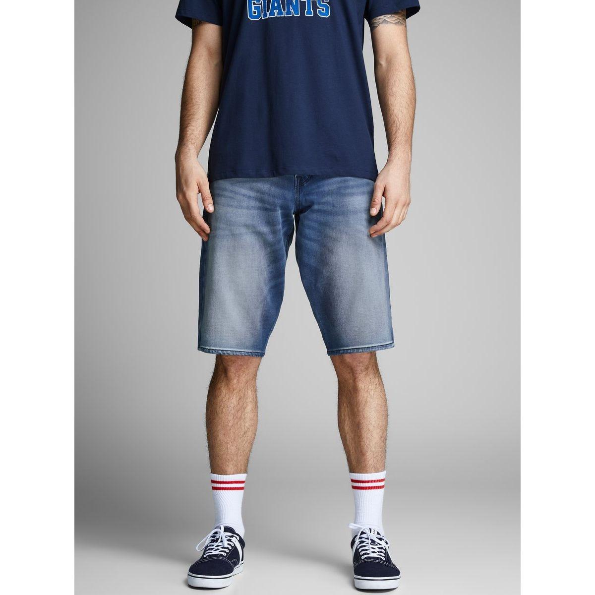 Shorts en jean Long Indigo Knit