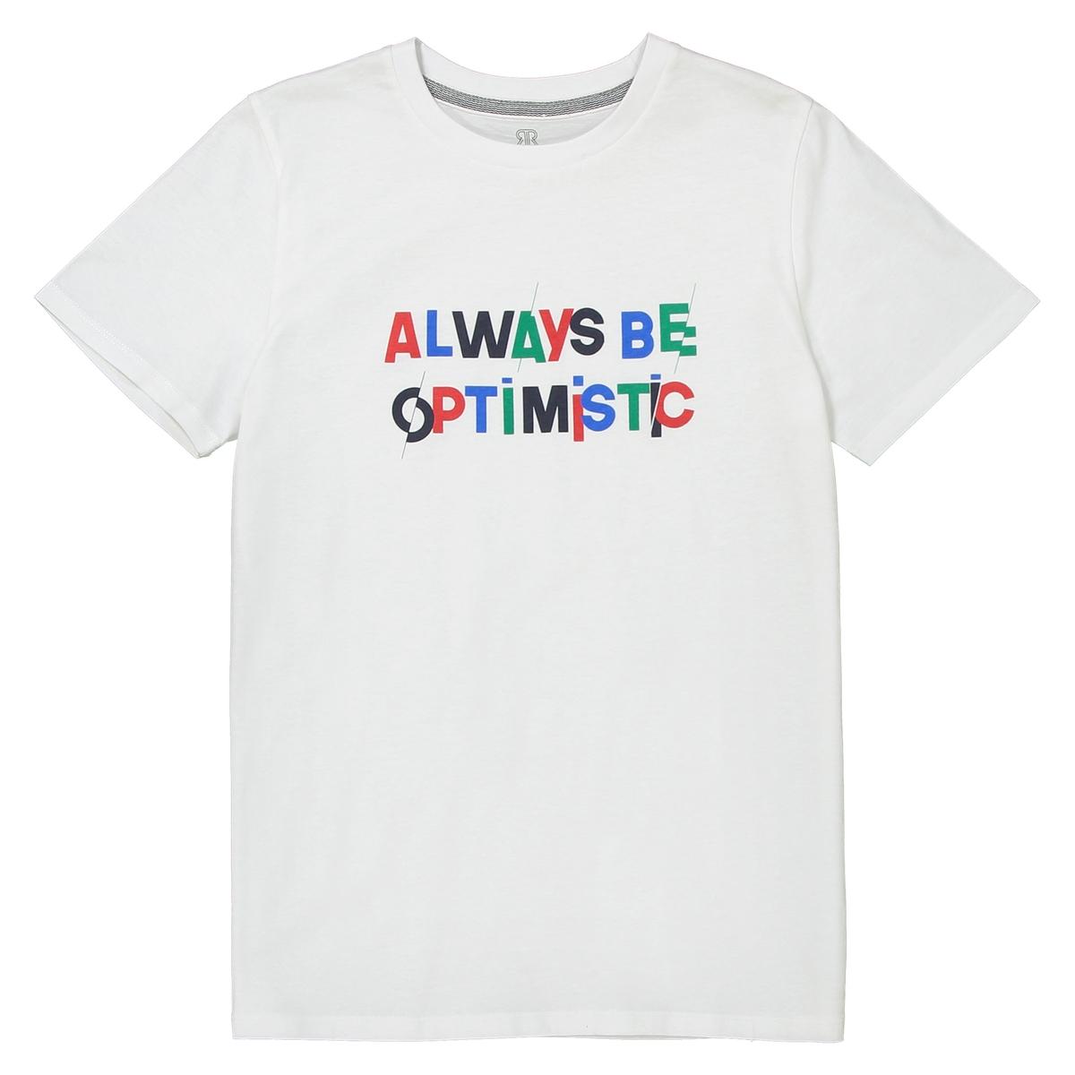 T-shirt estampada de gola redonda, 10-16 anos