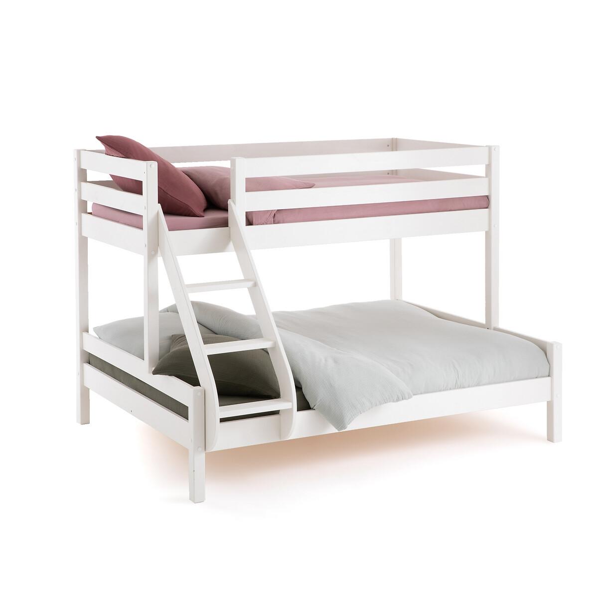Кровать LaRedoute 2-ярусная 3-местная Meeting 140 x 190 см белый