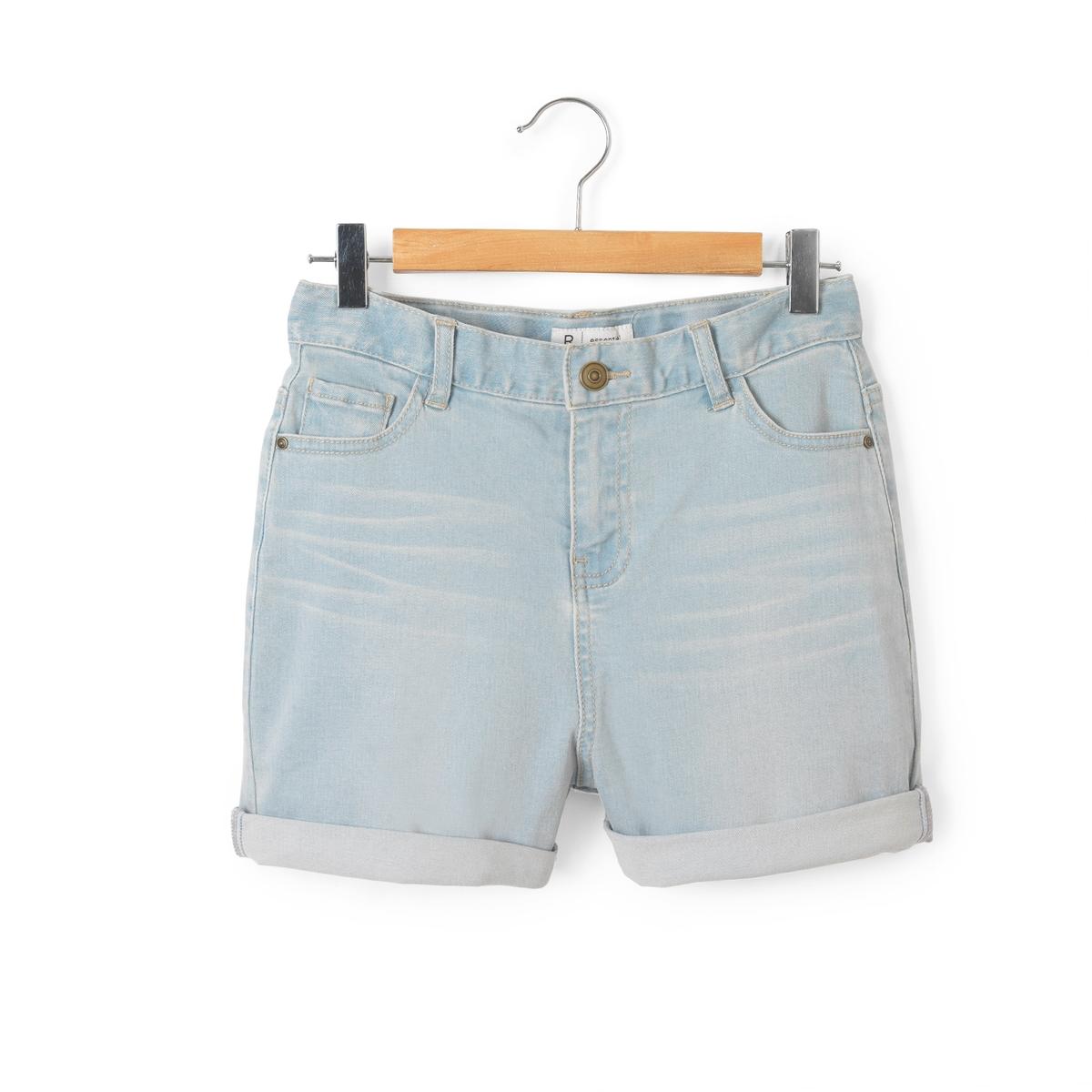 Шорты джинсовые с завышенной талией 10-16 лет
