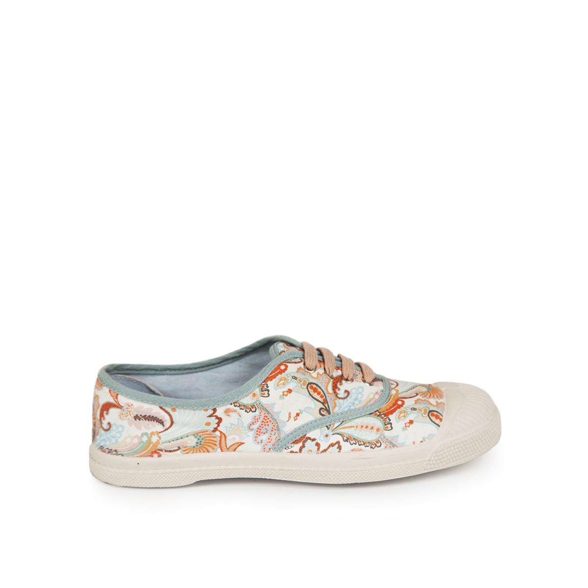 Zapatillas con cordones, estampado floral