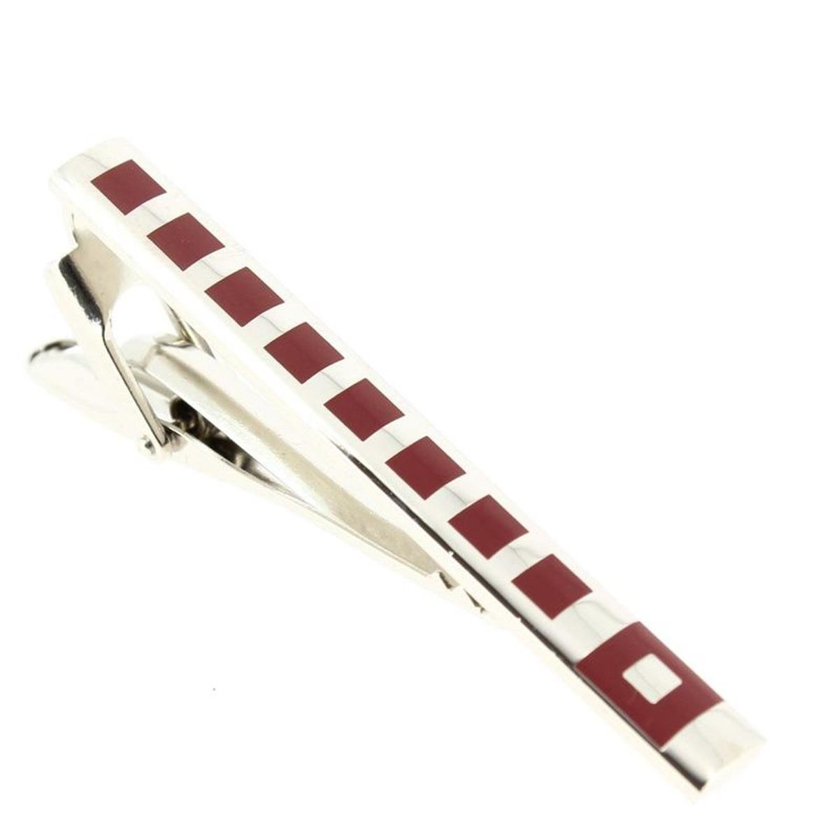 Pince à cravate acier rhodié