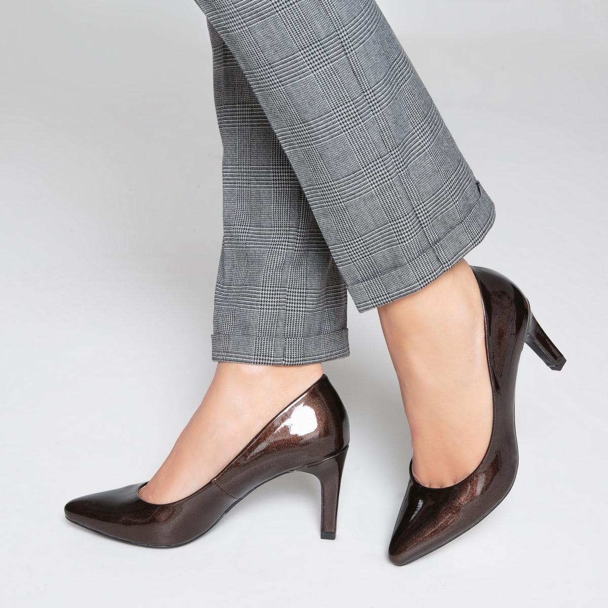zapatillas Zapatos de tac?n de charol efecto metalizado