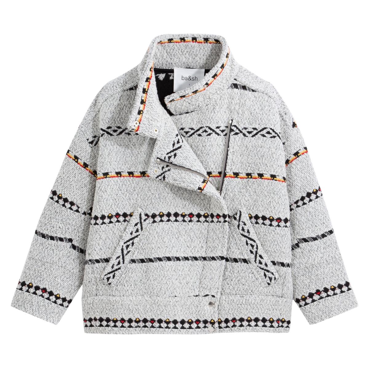 Пальто La Redoute Короткое в этническом стиле EDEN 1(S) серый mayamoda пальто oversize