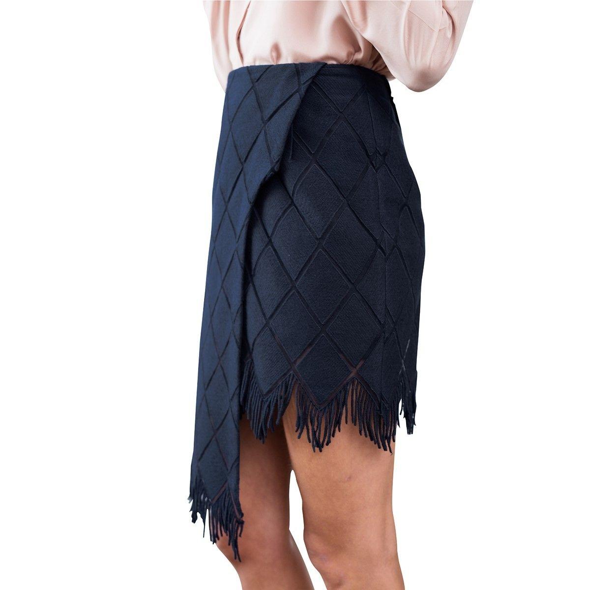 Jupe en coton broderie à Franges cuisses transparentes avec tulle extra fin