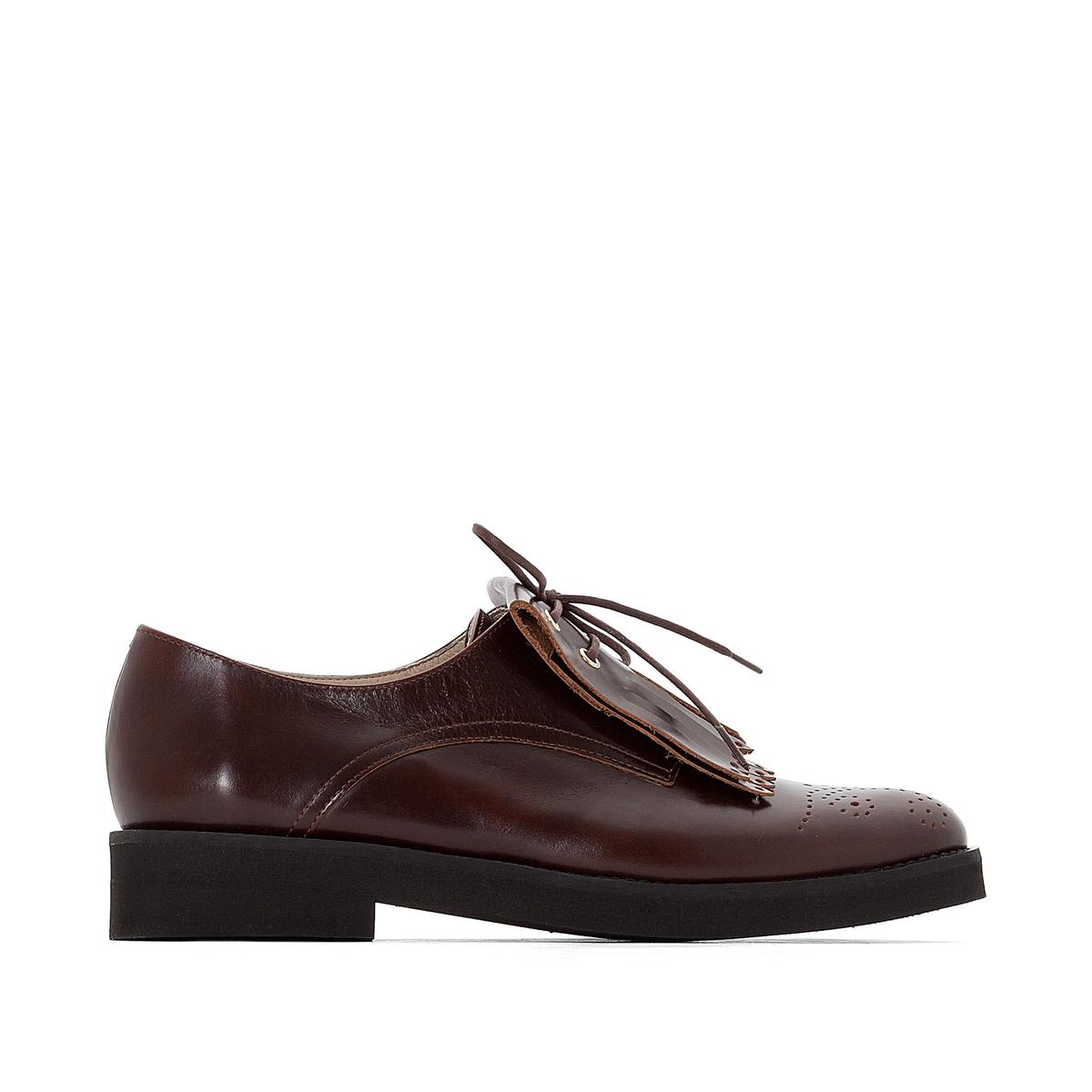 Ботинки-дерби из кожи с мексиканской планкой