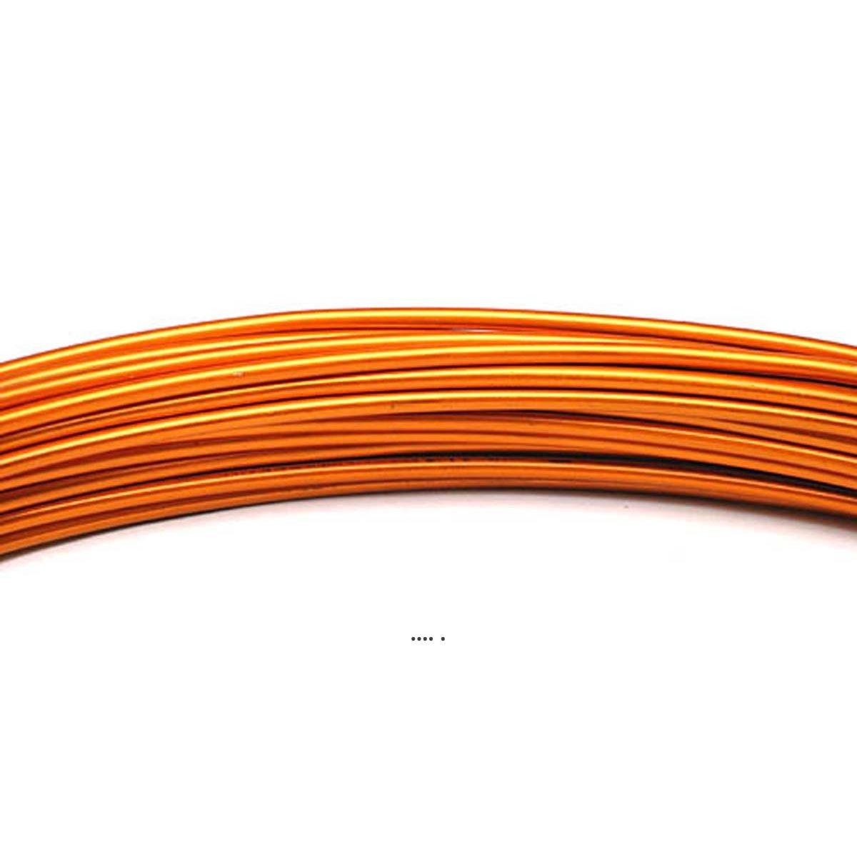 Fil aluminium Orange souple D 2 mm L 12 metres decoration - choisissez votre coloris: Orange