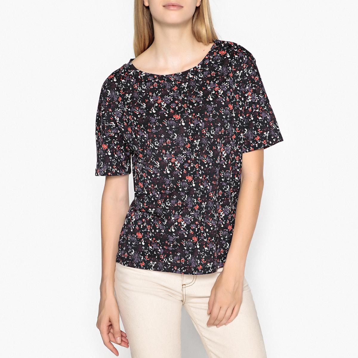 Блузка с рисунком и короткими рукавами ALERIA блузка кружевная с короткими рукавами