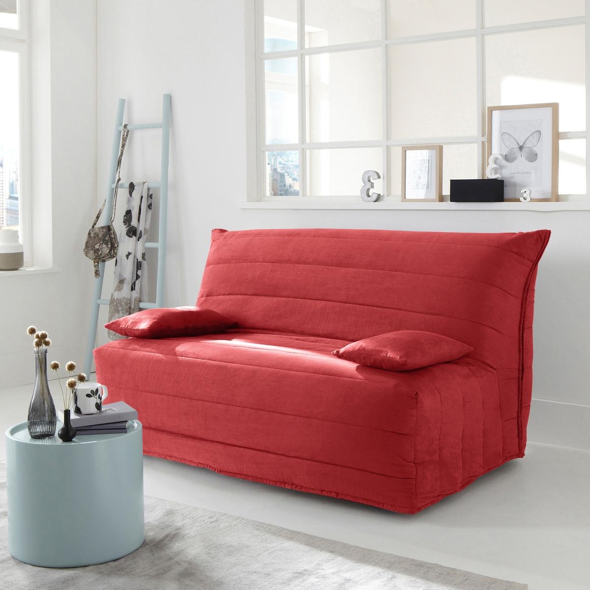 Чехол La Redoute Для дивана-книжки из искусственной замши 160 см красный