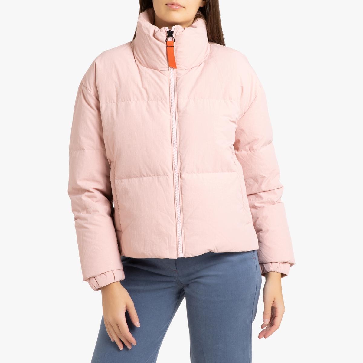 цена Куртка La Redoute Стеганая LIO 3(L) розовый онлайн в 2017 году