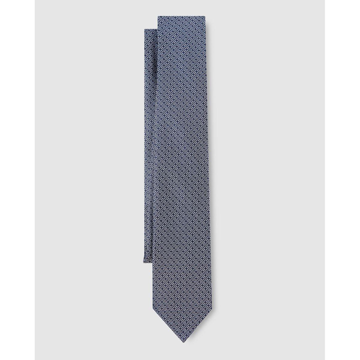 Cravate à imprimé géométrique
