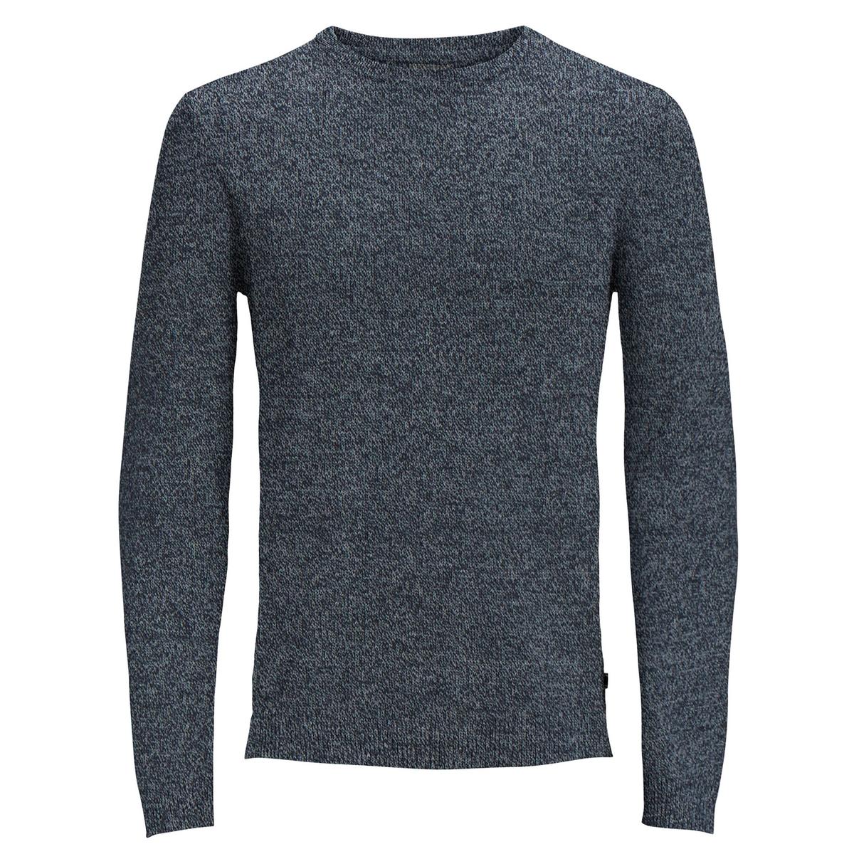 Пуловер La Redoute С круглым вырезом из тонкого трикотажа XXL синий халат la redoute из переработанного велюра xxl синий
