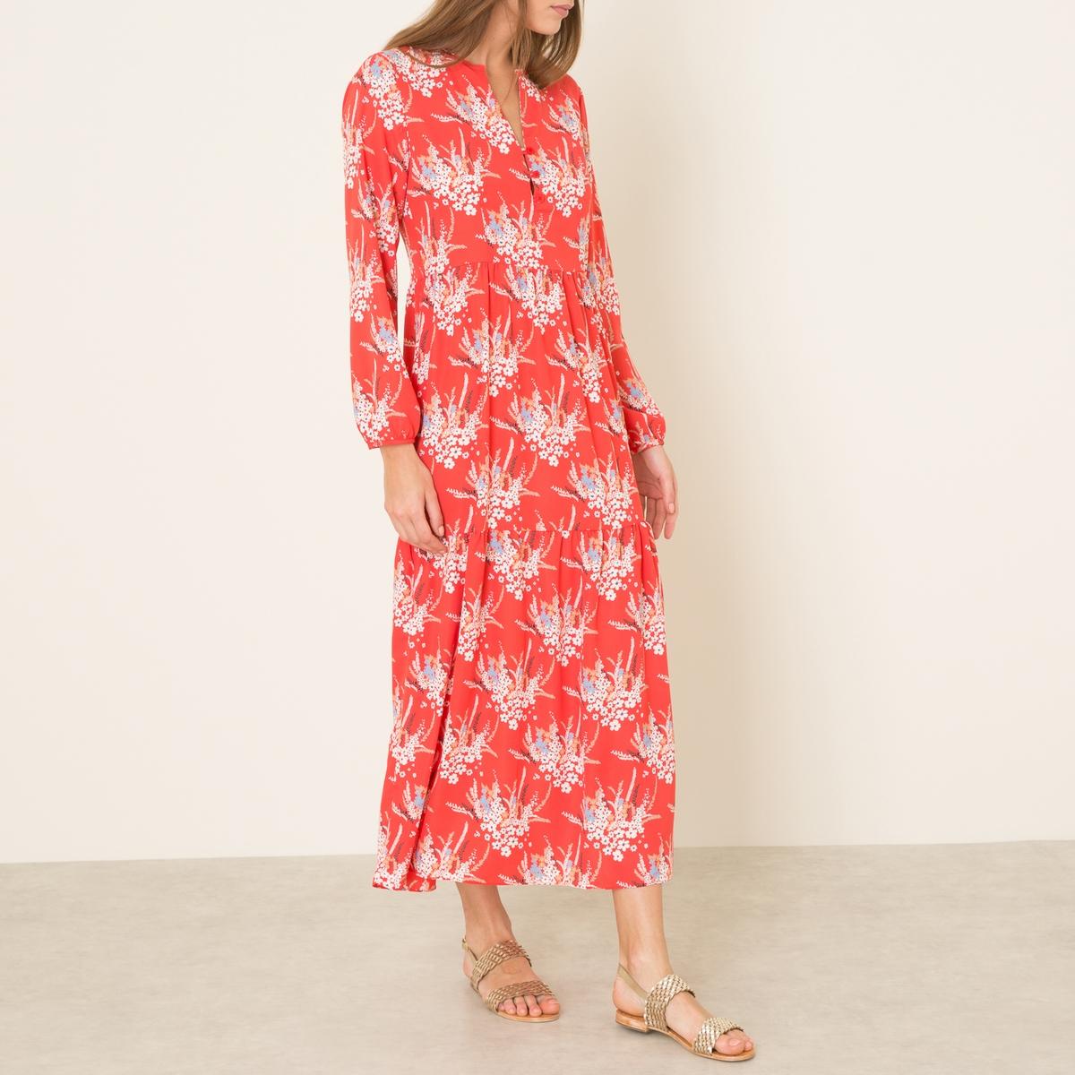 Платье GAUGUINСостав и описание    Материал : 100% полиэстер   Длина : ок. 135 см. для размера 36   Марка : LA BRAND BOUTIQUE<br><br>Цвет: красный<br>Размер: XS