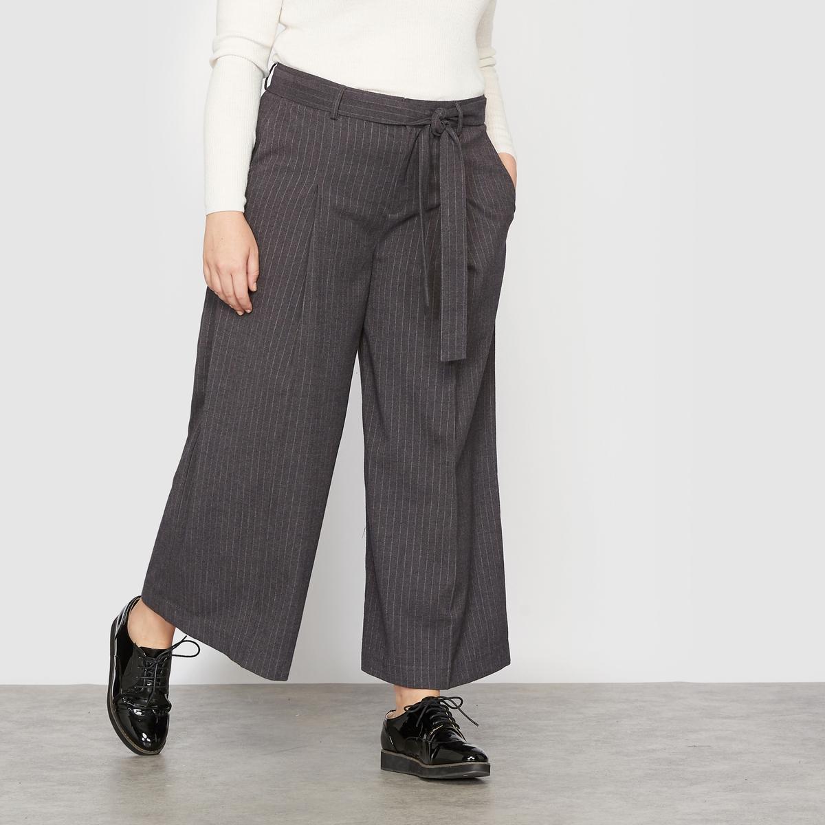 Юбка-брюки длинная в полоску