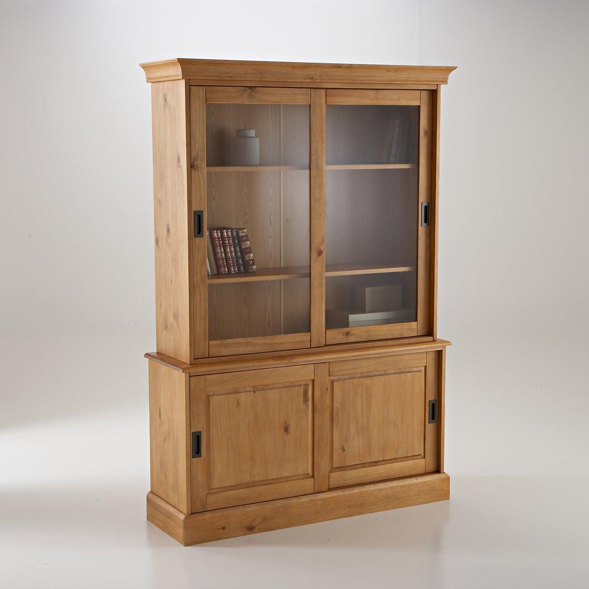Буфет-шкаф LaRedoute Для посуды из массива сосны Authentic Style единый размер бежевый
