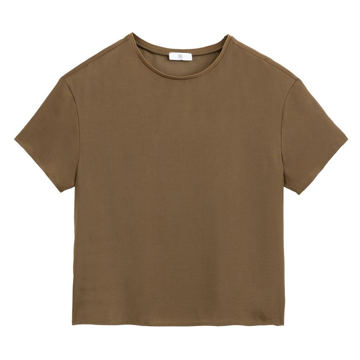 Blusa con cuello redondo, de manga corta