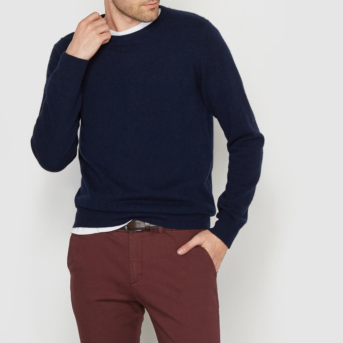 Пуловер с круглым вырезом, 100% кашемира