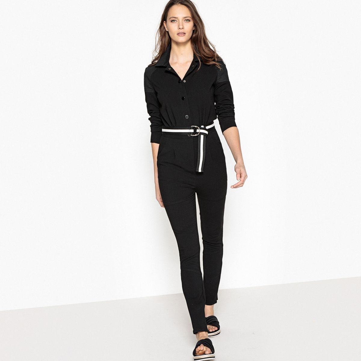 Combinaison pantalon bi-matière
