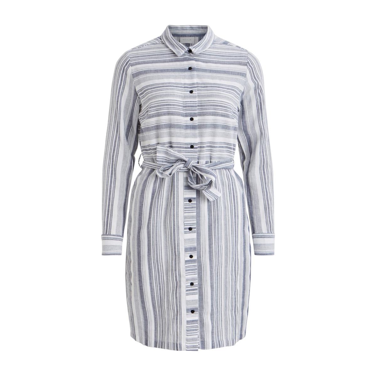 Платье La Redoute Прямое в полоску средней длины на пуговицах 36 (FR) - 42 (RUS) синий платье la redoute прямое с принтом до колен 48 fr 54 rus черный