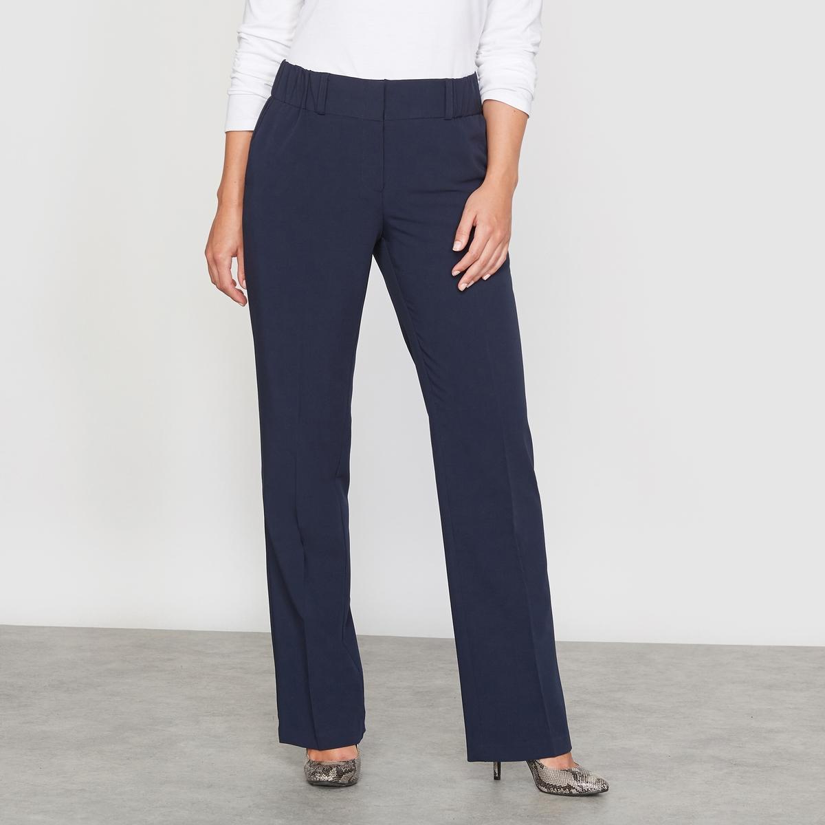 Брюки прямые, покрой экстра-комфортБлагодаря своему прямому покрою эти брюки подойдут всем: они не подчёркивают ни талию, ни бёдра ! Из великолепно сидящей, струящейся ткани, 74 % полиэстера, 19 % вискозы, 7 % эластана, не требует глажки!ПОКРОЙ ЭСКТРА-КОМФОРТ : (пышные бёдра). Полностью эластичный пояс. Вытачки спереди и сзади. Косые карманы спереди, карман на пуговице сзади. Длина по внутреннему шву 78 см,   ширина по низу 22 см.<br><br>Цвет: темно-синий,черный<br>Размер: 62 (FR) - 68 (RUS).44 (FR) - 50 (RUS).44 (FR) - 50 (RUS).56 (FR) - 62 (RUS).42 (FR) - 48 (RUS).62 (FR) - 68 (RUS).46 (FR) - 52 (RUS).52 (FR) - 58 (RUS).58 (FR) - 64 (RUS).60 (FR) - 66 (RUS).54 (FR) - 60 (RUS).60 (FR) - 66 (RUS).48 (FR) - 54 (RUS)