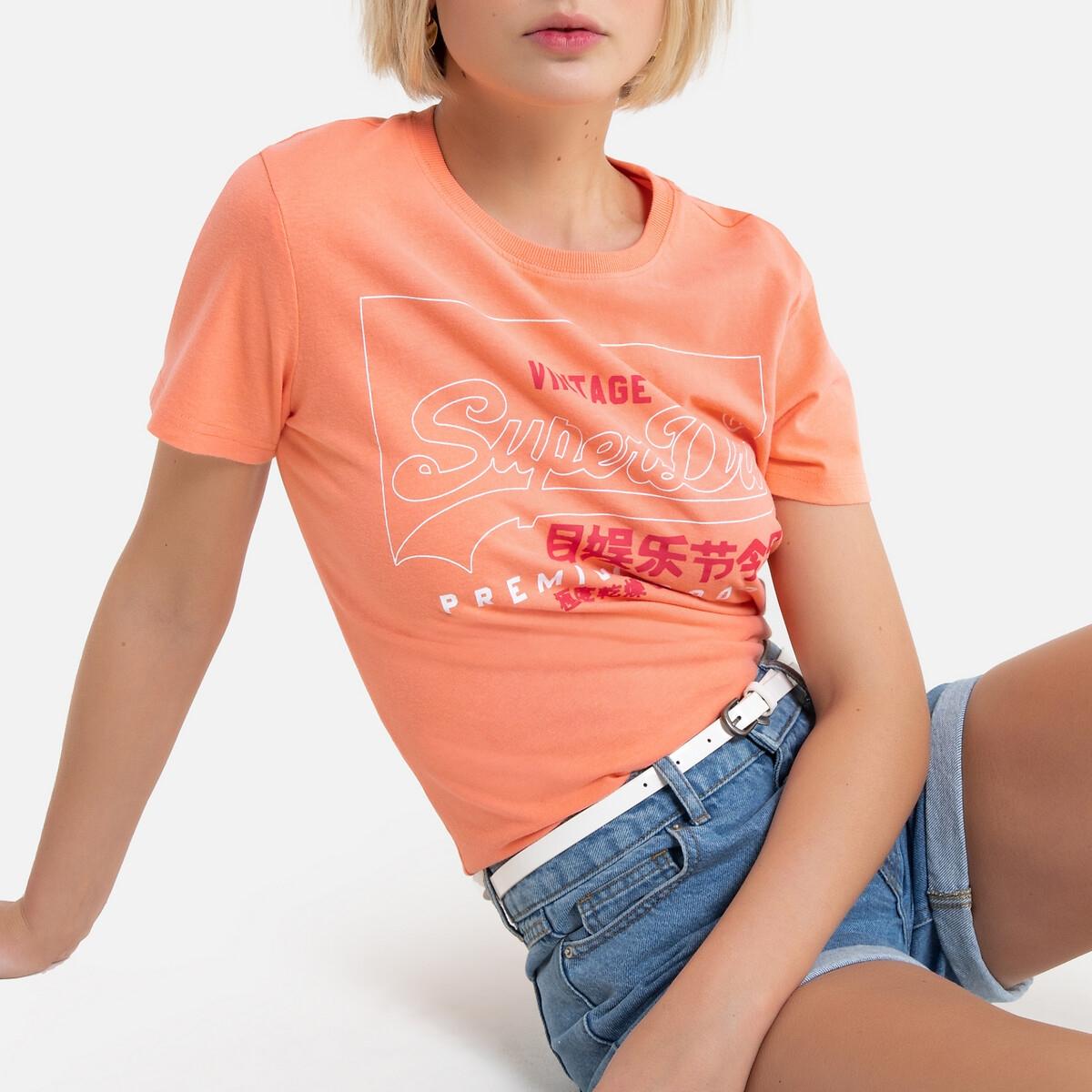 Camiseta de algodón de manga corta, con logotipo