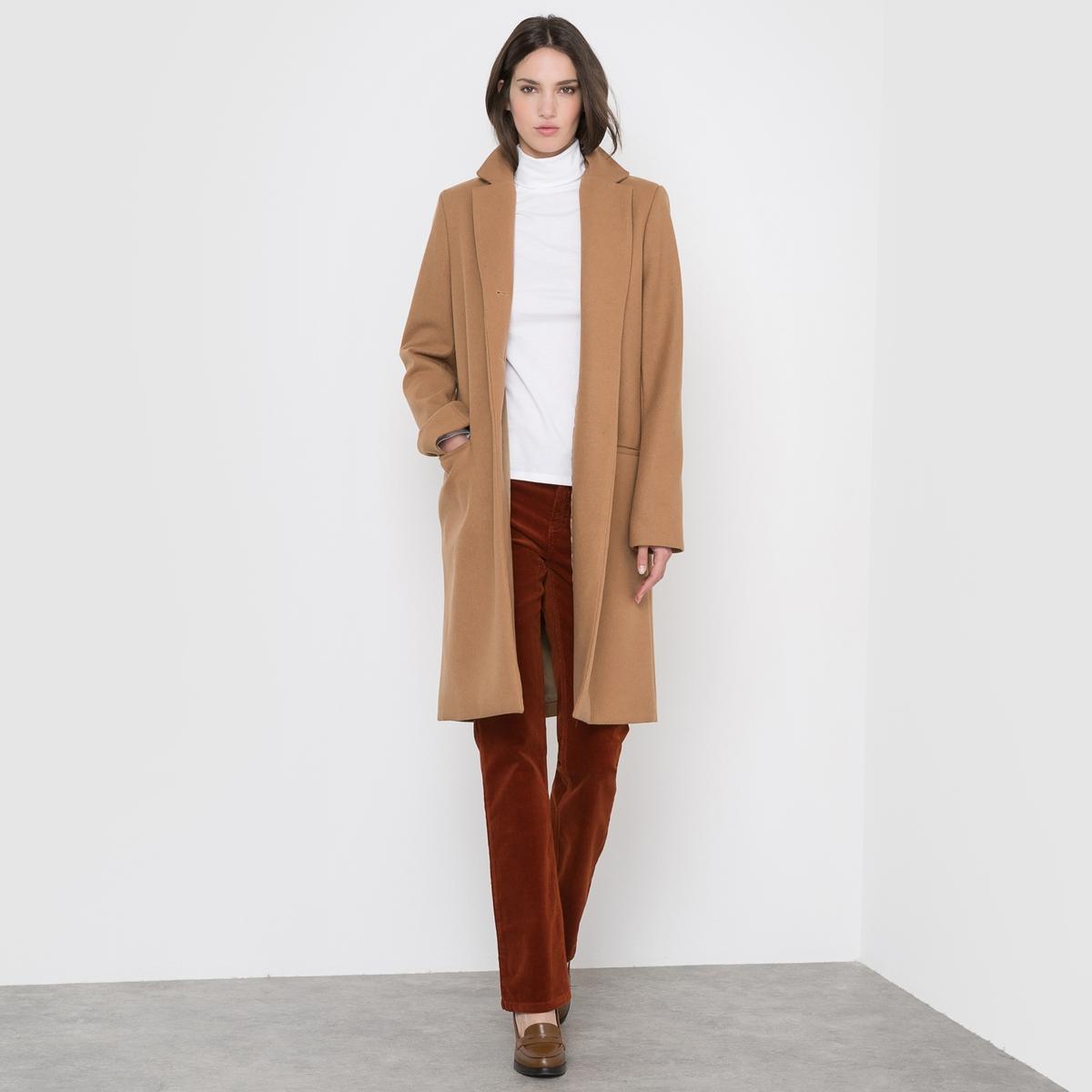 Пальто длинное, 60% шерсти драповое длинное пальто из шерсти claudius