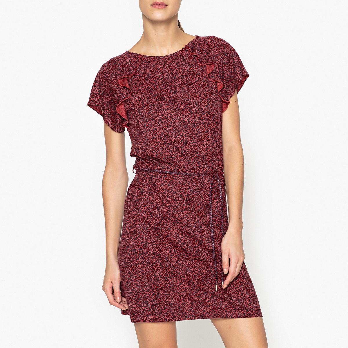 Платье с рисунком, с воланами SYLVA