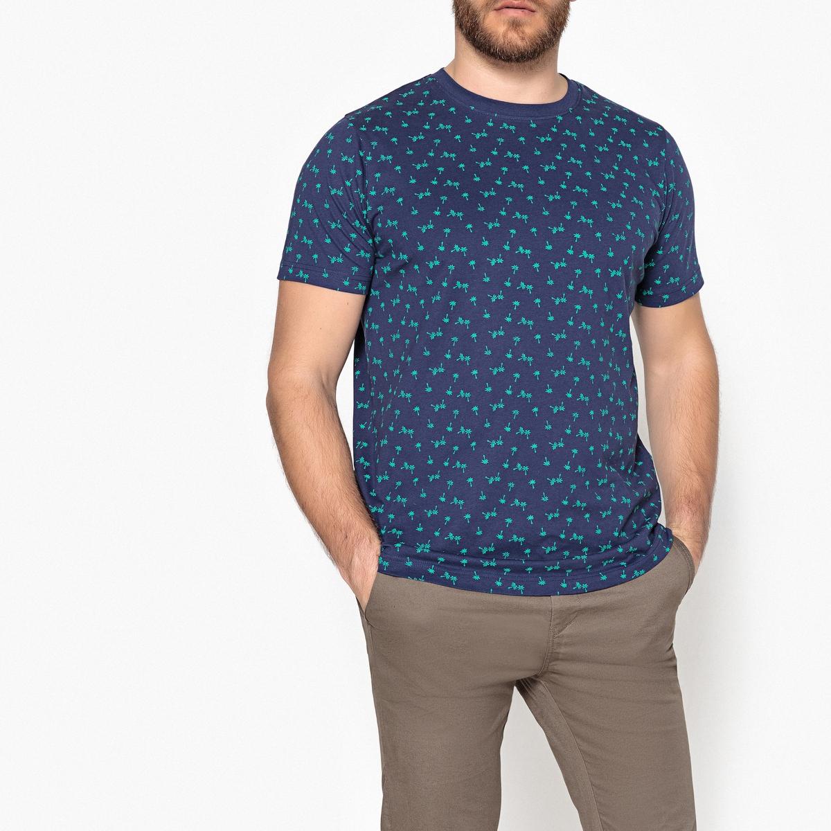 T-shirt de gola redonda, estampada