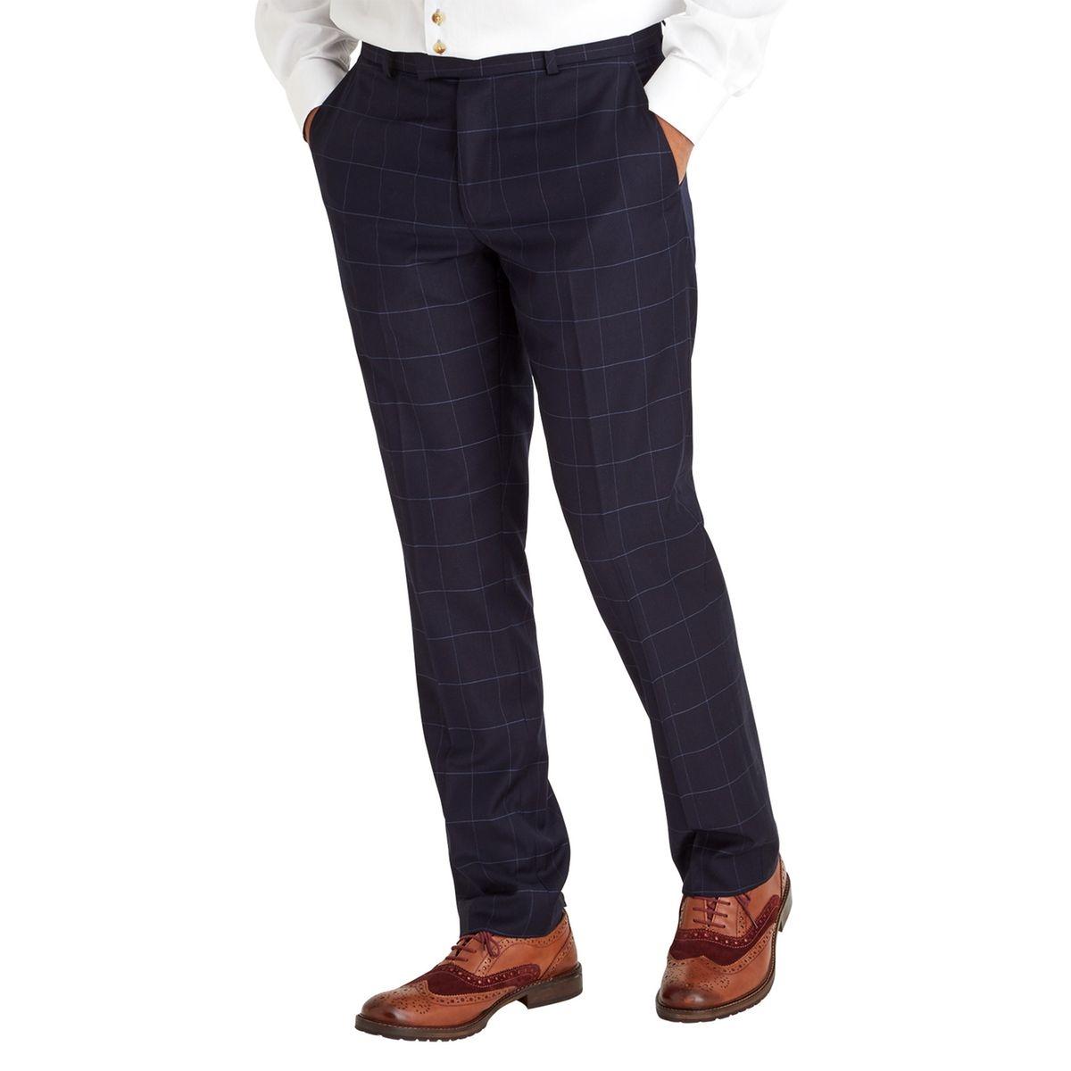Pantalon de costume carrelé sur mesure pour homme