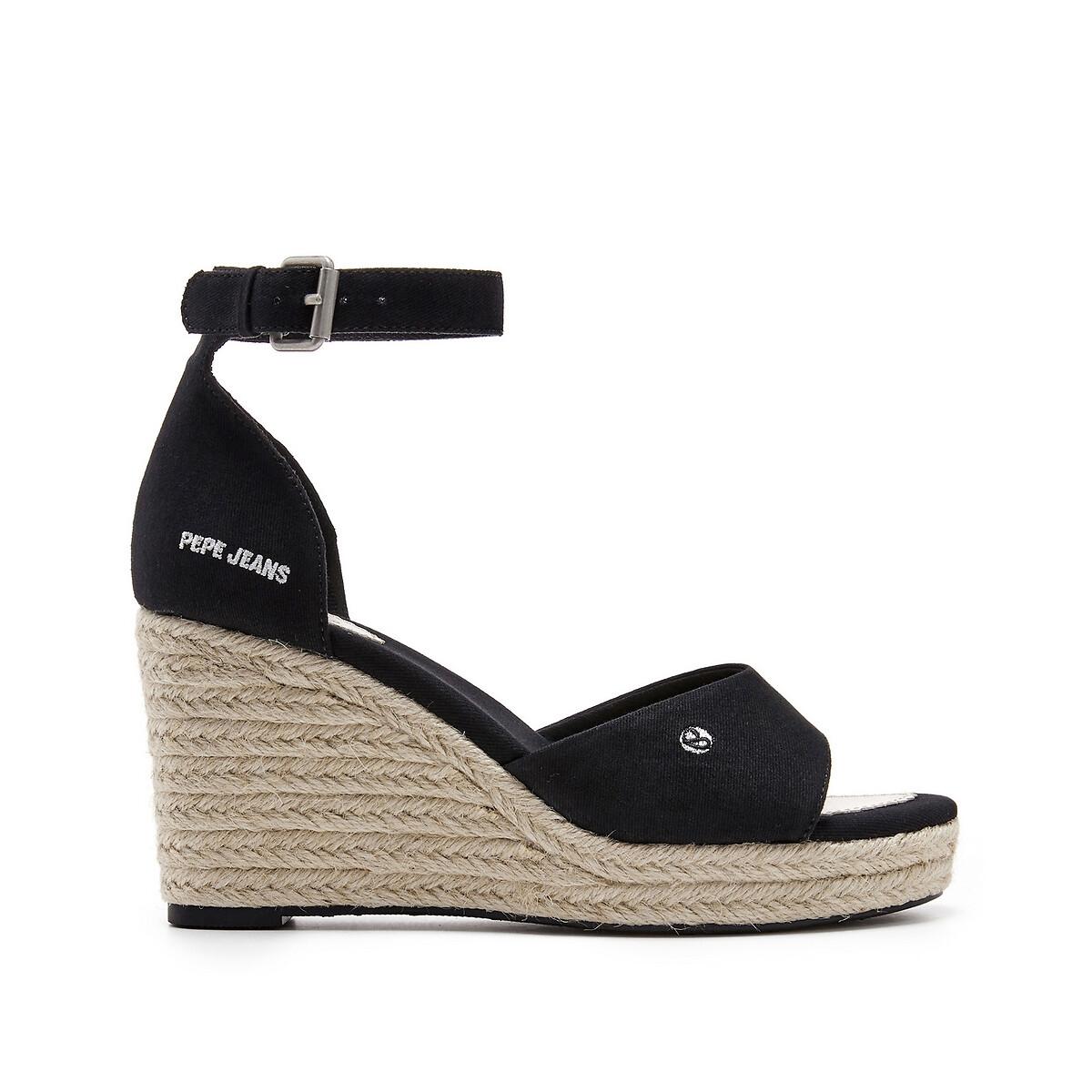 Women's Footwear Maida Bass Canvas Wedge Heel Sandals