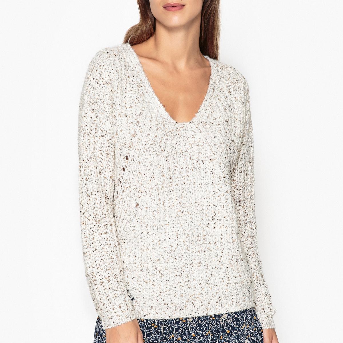 Пуловер из трикотажа мулине FJORD