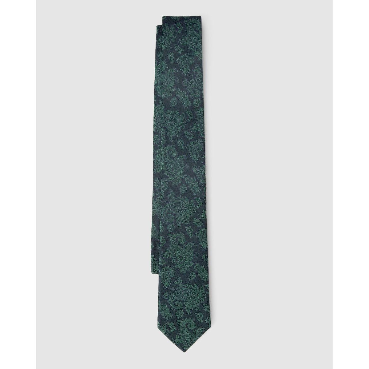 Cravate en soie imprimé cachemire