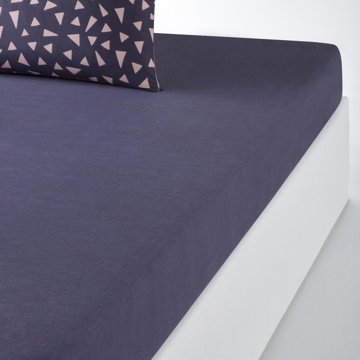 Простыня натяжная однотонная TAZLINAОписание:Однотонная натяжная простыня, TAZLINA. Модно сочетать с пододеяльником и наволочками Tazlina той же расцветки !Характеристики натяжной простыни TAZLINA :Однотонный темно-синий цвет100% хлопок, 57 нитей/см? (Чем больше количество нитей/см?, тем выше качество ткани)Клапан 25 смЛегкость ухода.   Машинная стирка при 60°Откройте для себя коллекцию постельного белья TAZLINA на сайте laredoute.ru В любое время года добавьте индивидуальности, сочетая коллекцию TAZLINA с нашей коллекцией однотонного постельного белья из хлопка SCENARIO! Знак Oeko-Tex® гарантирует, что товары прошли проверку и были изготовлены без применения вредных для здоровья человека веществ Размеры :90 x 190 см : 1-сп.140 x 190 см : 2-сп. 160 x 200 см : 2-сп.180 x 200 см : 2-сп.<br><br>Цвет: темно-синий<br>Размер: 160 x 200  см.140 x 190  см