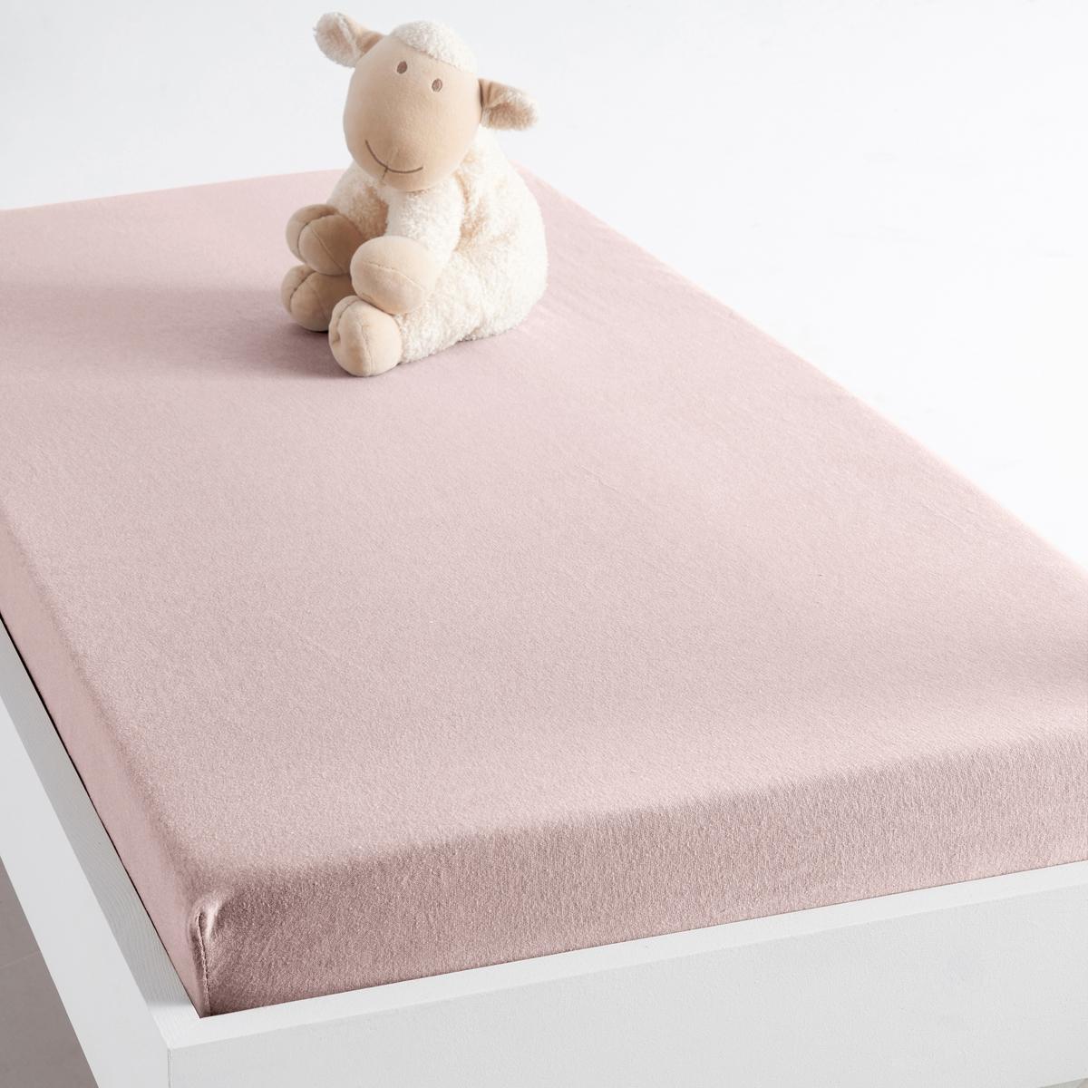 купить Простыня натяжная из джерси, 100% биохлопок, для детской кровати по цене 439.2 рублей