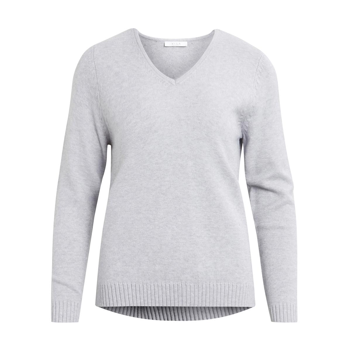 Sweter z dekoltem w serek z cienkiejv dzianiny