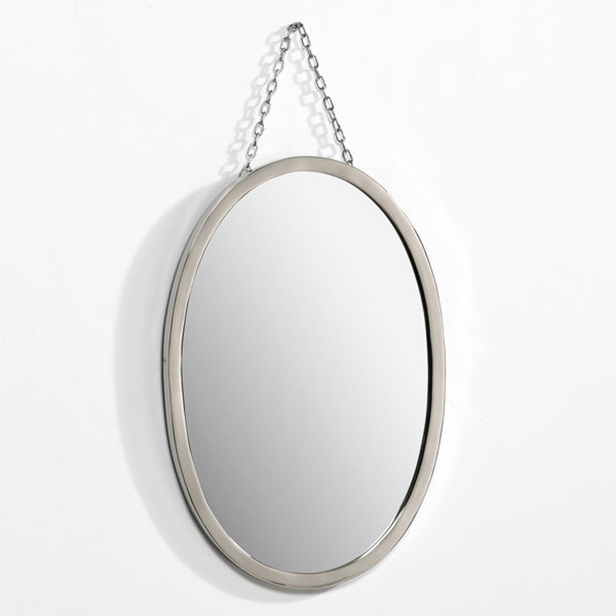 Зеркало овальное Д30 x В45 см, BarbierОвальное зеркало под старину Цирюльник.Характеристики: :- Рамка из никелированной латуни  .- Цепочка-подвеска из металла с никелевым покрытием  .Размеры :- Д30 x В45 см<br><br>Цвет: безцветный